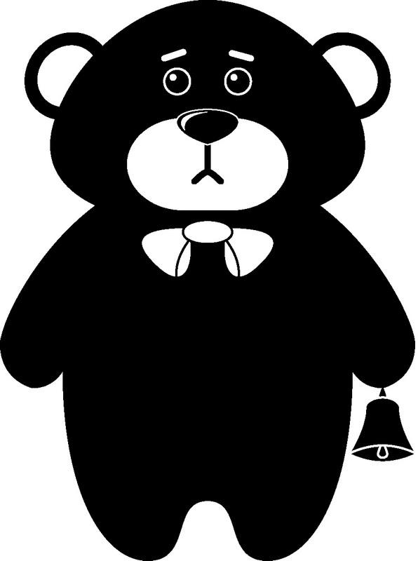 Наклейка «Мишка с колокольчиком»Детские<br><br>