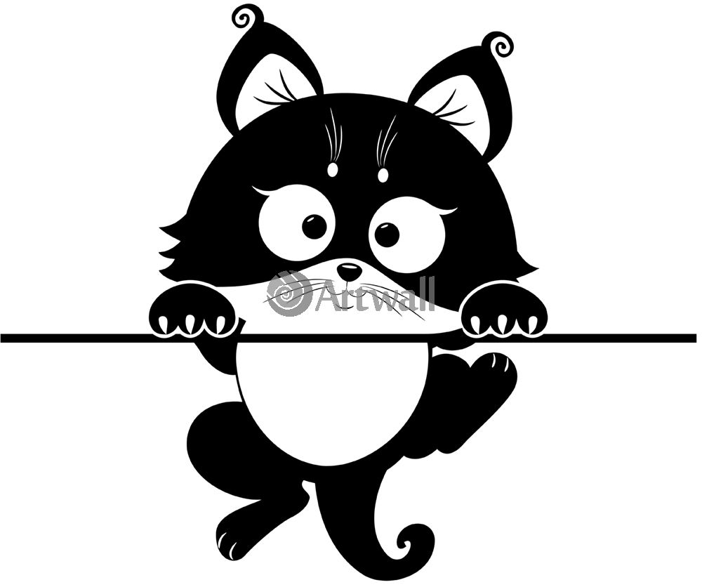 Наклейка «Висящий котёнок»Детские<br><br>