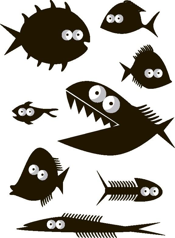 Наклейка «Чёрные рыбки»Детские<br><br>