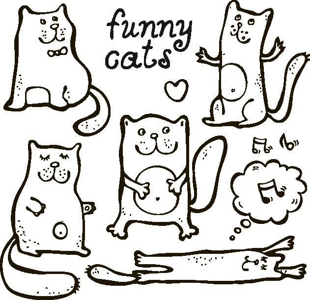 Наклейка «Смешные котики»Детские<br><br>