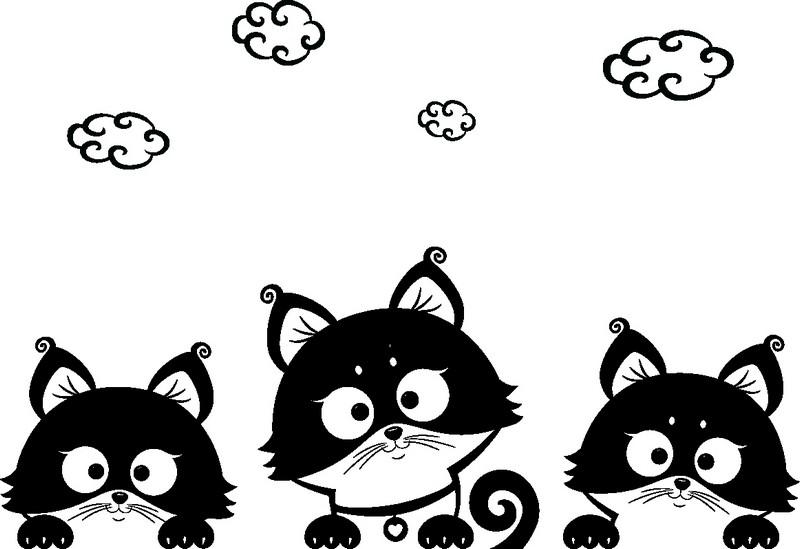 Наклейка «Котята под облаками»Детские<br><br>