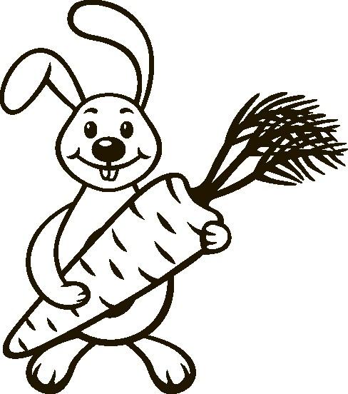 Наклейка «Заяц с морковкой»Детские<br><br>