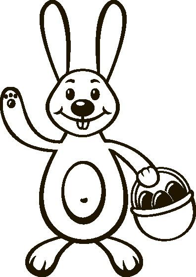 Наклейка «Заяц с корзинкой»Детские<br><br>