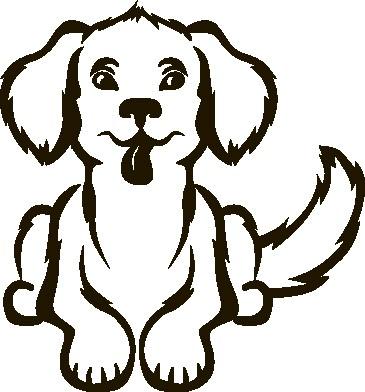Наклейка «Лохматый пёс»Детские<br><br>