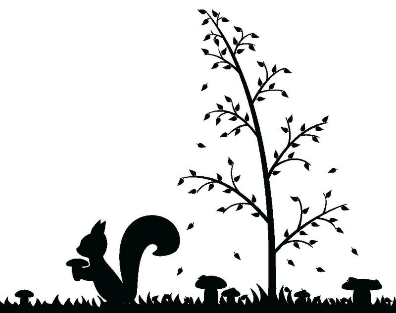 Наклейка «Белка под деревом»Детские<br><br>