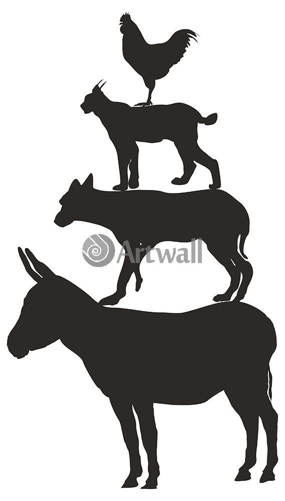 Наклейка «Колонна из животных»Детские<br><br>