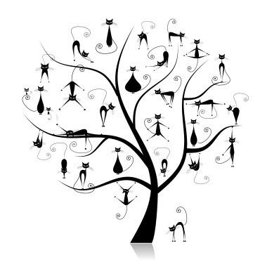 Наклейка «Коты на дереве»Детские<br><br>