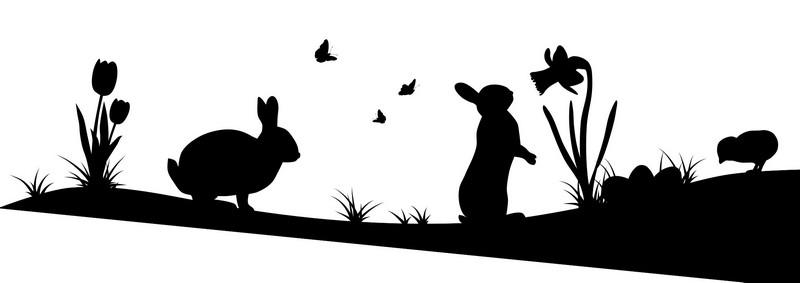 Наклейка «Зайки на полянке»Детские<br><br>