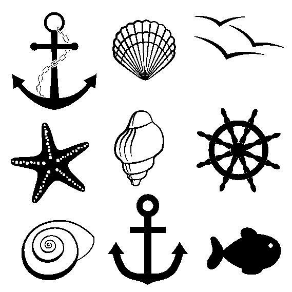 Наклейка «Морская тема»