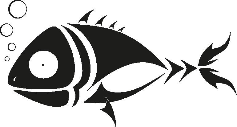 Наклейка «Рыбка и пузырьки»