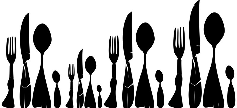 Наклейка «Двенадцать приборов»Для кухни, столовой<br><br>