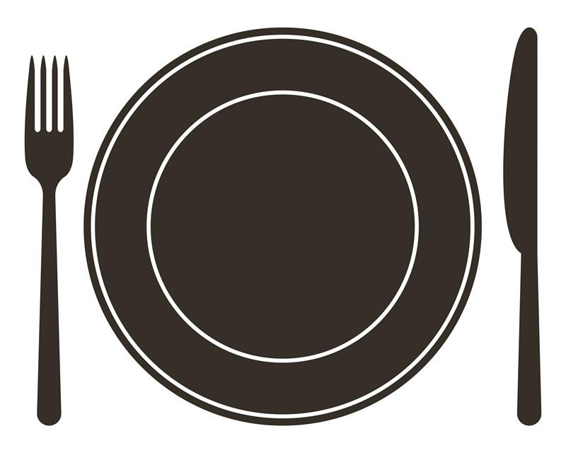 Наклейка «Вилка,ложка и тарелка»Для кухни, столовой<br><br>