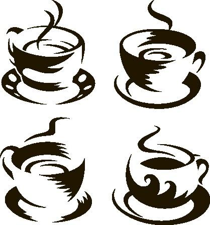 Наклейка «Четыре чашки»Для кухни, столовой<br><br>
