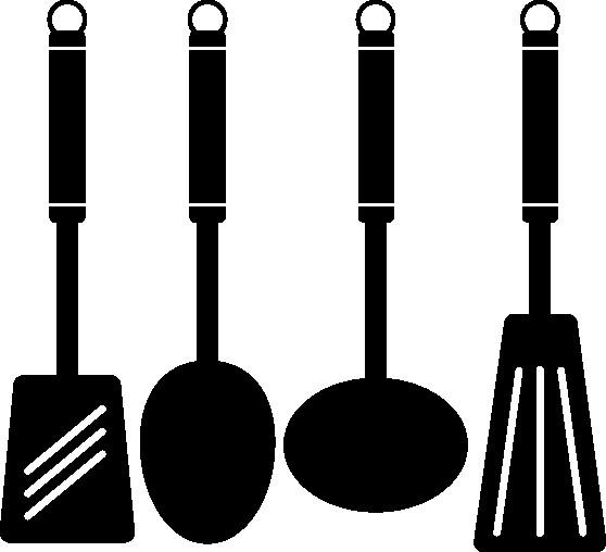 Наклейка «Лопатки кухонные»Для кухни, столовой<br><br>