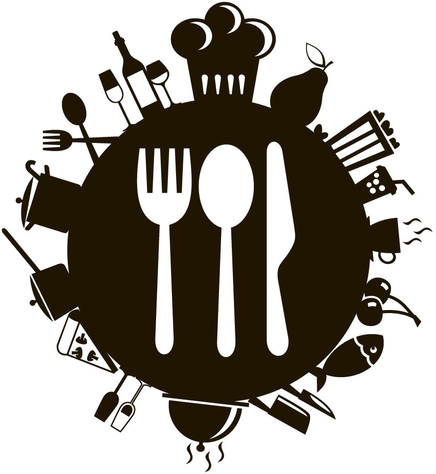 Наклейка «Посуда и приборы»Для кухни, столовой<br><br>