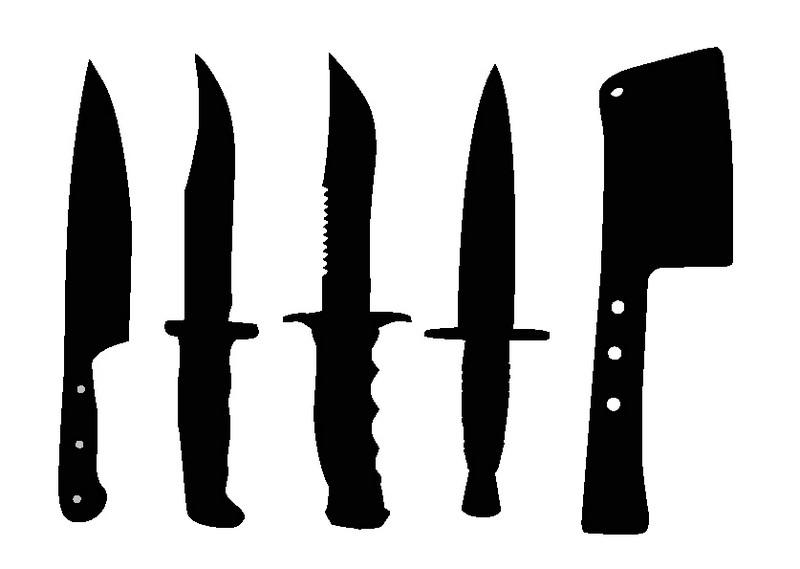 Наклейка «Ножи»Для кухни, столовой<br><br>