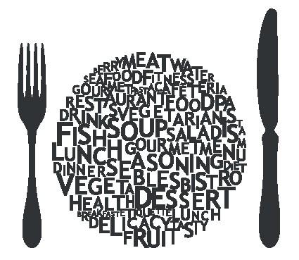 Наклейка «Вилка и нож»Для кухни, столовой<br><br>