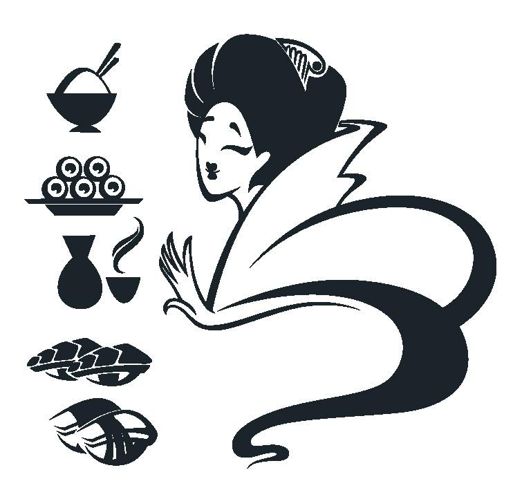 Наклейка «Восточная чайная церемония»Для кухни, столовой<br><br>