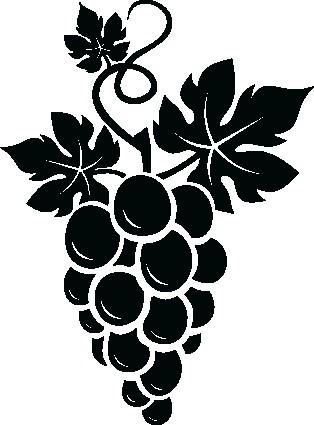Наклейка «Гроздь винограда»Для кухни, столовой<br><br>