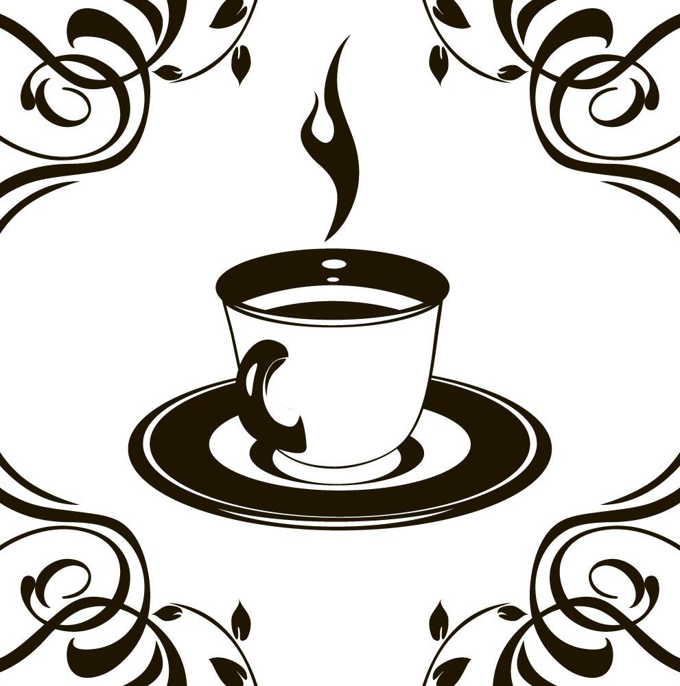 Наклейка «Чашка чая»Для кухни, столовой<br><br>