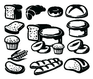 Наклейка «Хлебобулочные изделия»Для кухни, столовой<br><br>