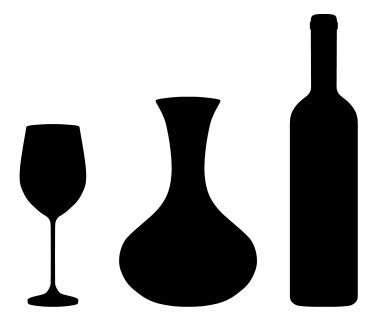 Наклейка «Бокал,бутылка и кувшин»Для кухни, столовой<br><br>