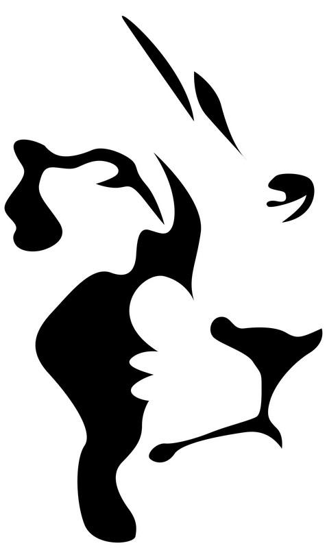 Наклейка «Очертания льва»Животные и птицы<br><br>