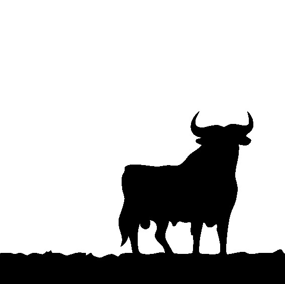 Наклейка «Корова на пастбище»