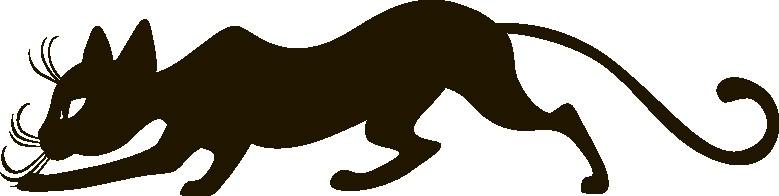 Наклейка «Крадущийся кот»Животные и птицы<br><br>
