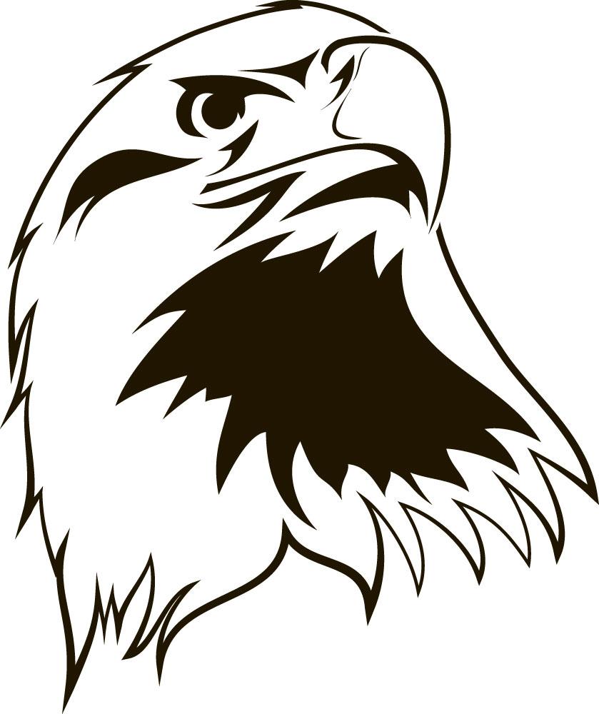 Наклейка «Голова орла»