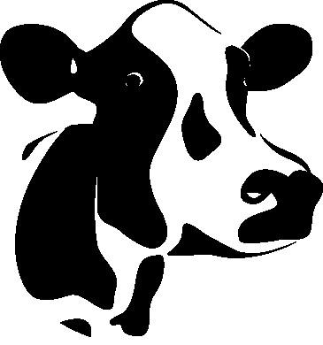 Наклейка «Голова коровы»Животные и птицы<br><br>