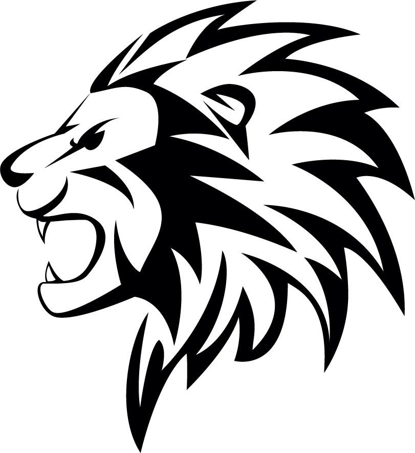 Наклейка «Рычащий лев»Животные и птицы<br><br>