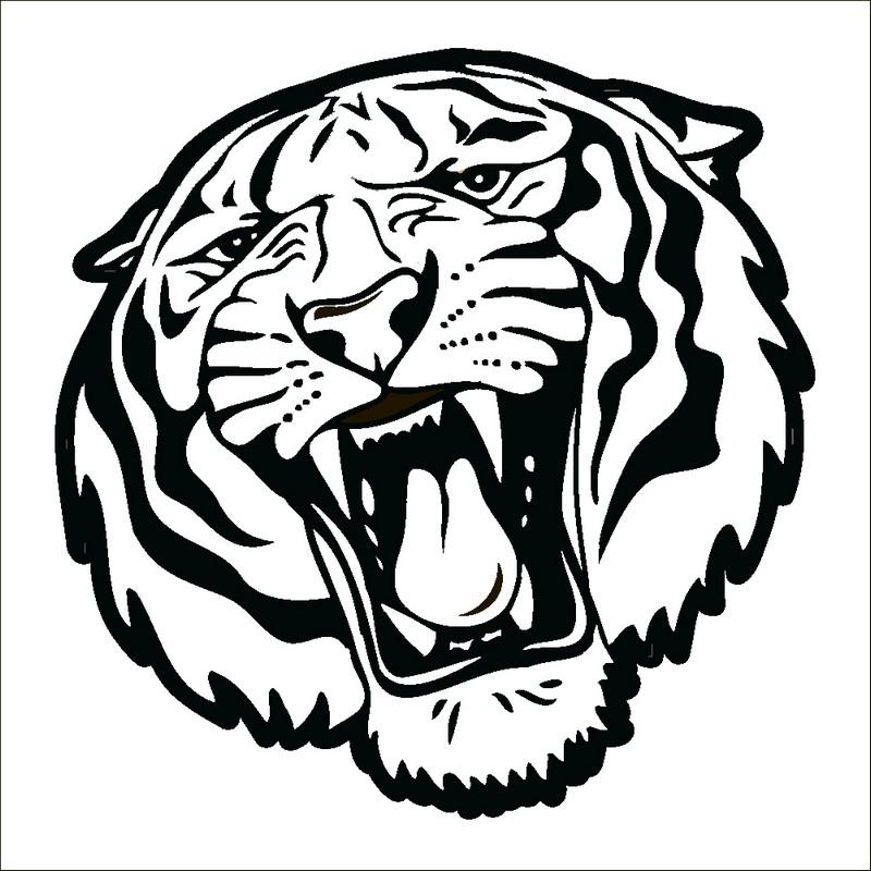 Наклейка «Рычащий тигр»Животные и птицы<br><br>