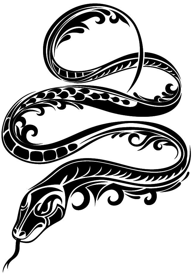 Наклейка «Змеиные кольца»Животные и птицы<br><br>