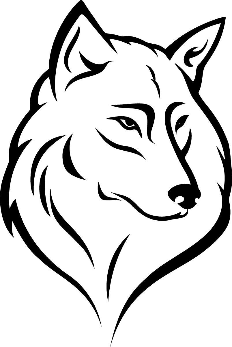 Наклейка «Морда волка»Животные и птицы<br><br>