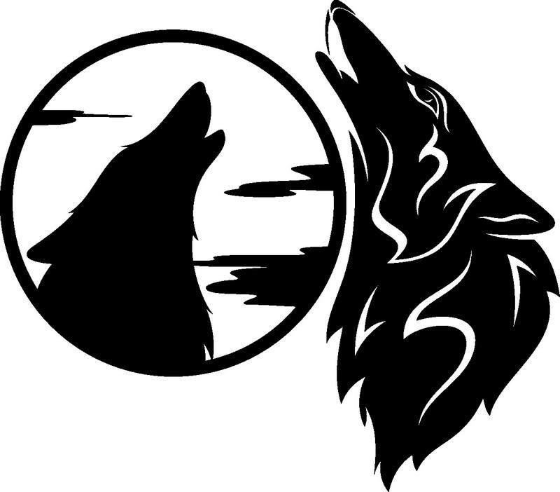 Наклейка «Волки воют»Животные и птицы<br><br>