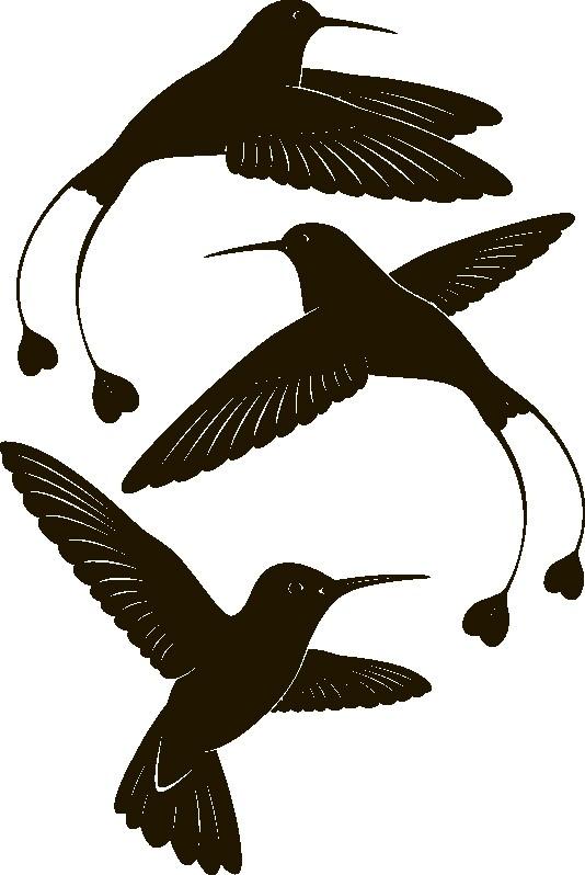 Наклейка «Птички с сердечками»Животные и птицы<br><br>
