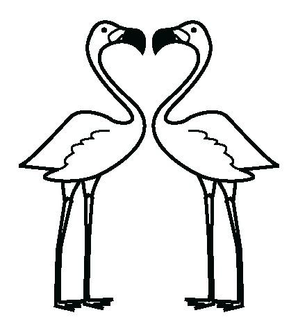 Наклейка «Фламинго»