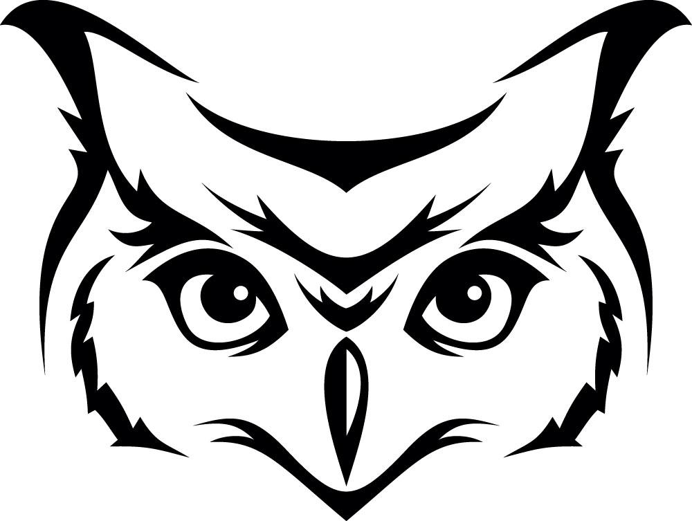 Наклейка «Морда совы»Животные и птицы<br><br>