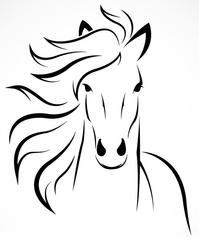 Наклейка «Морда лошади»Животные и птицы<br><br>