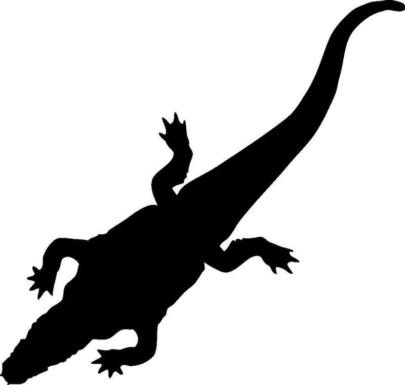 Наклейка «Крокодил»