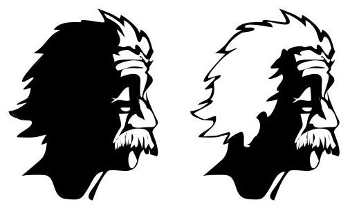 Наклейка «Эйнштейн»Знаменитости<br><br>