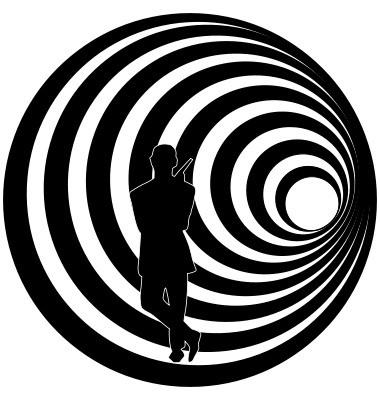 Наклейка «Джеймс Бонд в полный рост»Знаменитости<br><br>