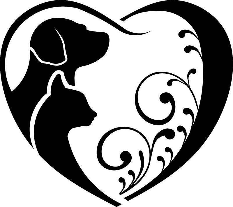 Наклейка «Кошка,собака и сердце»Любовь<br><br>
