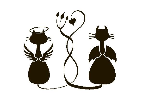 Наклейка «Коты-противоположности»Любовь<br><br>
