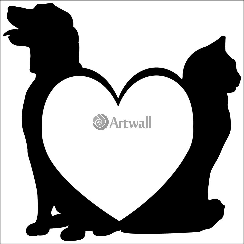 Наклейка «Любовь животных»Любовь<br><br>