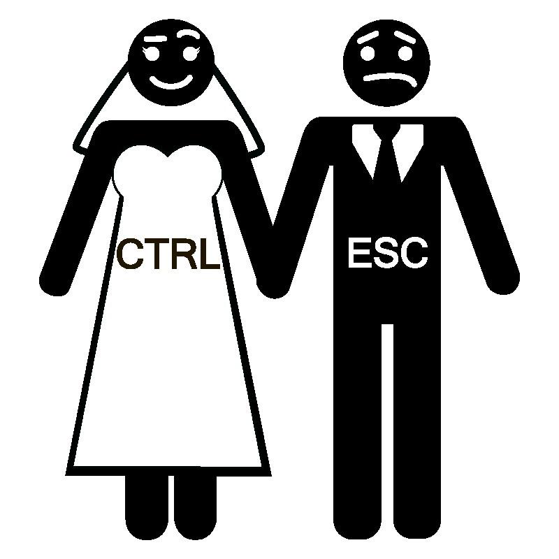 Наклейка «Свадьба программиста»Любовь<br><br>