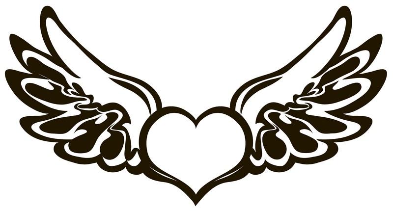 Наклейка «Крылатое сердце»Любовь<br><br>