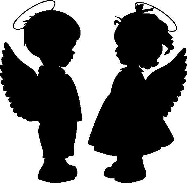 Наклейка «Влюблённые ангелочки»Любовь<br><br>