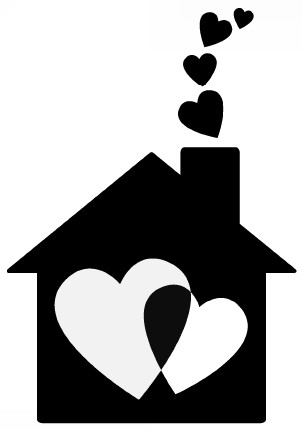 Наклейка «Когда в доме царит любовь»Любовь<br><br>
